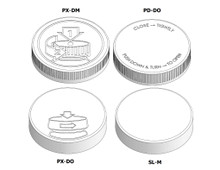 Child Resistant Cap - For 70mm Jars (400 Thread)