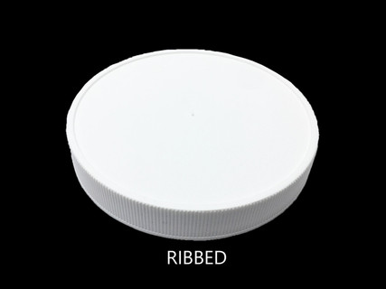 Ribbed (Matte Top) - For 22mm Jars (White) (PC022C4RPLIW)