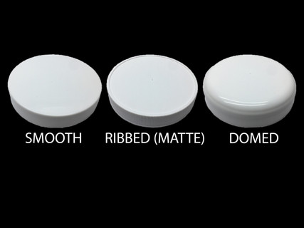 Smooth, Ribbed (Matte Top), Domed Caps