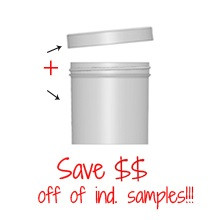 Jar & Cap Combo Case : 70mm - 6 oz