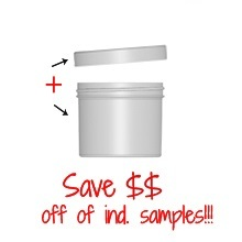 Jar & Cap Combo Case : 70mm - 4 oz