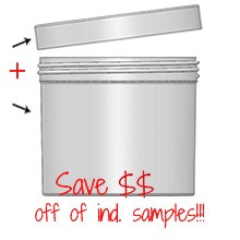 Jar & Cap Combo Case: 120mm - 32 oz