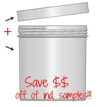 Jar & Cap Combo Case: 120mm - 40 oz