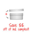 Jar & Cap Combo Case: 70mm - 2 oz