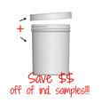 Jar & Cap Combo Case: 70mm - 8 oz