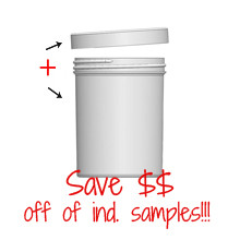 Jar & Cap Combo Case: 70mm - 8 oz