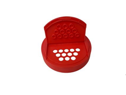Sift Cap - For 89mm Jars in Red, open