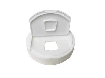 Trapezoid Cap - For 89mm Jars in white, open