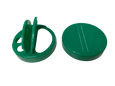 .450'' Sift / Full Pour Cap - For 63mm Jars in Green