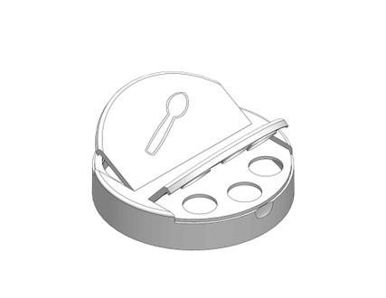 .450'' Sift / Full Pour Cap - For 63mm Jars