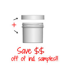Jar & Cap Combo Case: 58mm - 3 oz