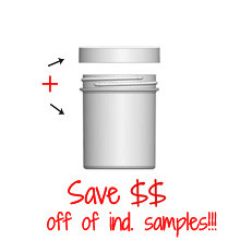 Jar & Cap Combo Case: 58mm - 4 oz