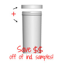 Jar & Cap Combo Case: 63mm - 10 oz