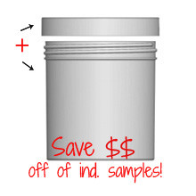 Jar & Cap Combo Case: 100mm - 20 oz