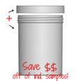 Jar & Cap Combo Case: 100mm - 26oz