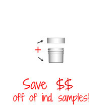 Jar & Cap Combo Case: 33mm - 1/4 oz