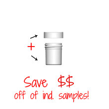 Jar & Cap Combo Case: 33mm - 1/2 oz