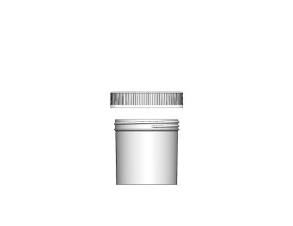 Jar & CRC Cap Combo Case: 70mm - 6 oz