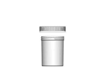 Jar & CRC Cap Combo Case: 70mm - 8 oz