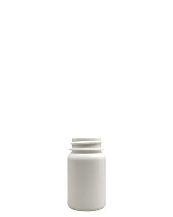 Round Packer HDPE Pharmaceutical Bottle: 33mm - 1.5oz