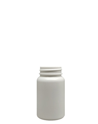 Round Packer HDPE Pharmaceutical Bottle: 38mm - 3.25oz
