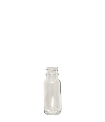 Boston Round Glass Bottle: 18mm - 1/2oz