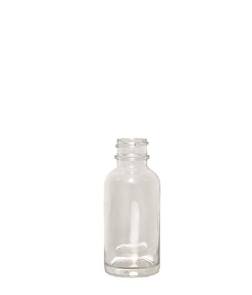 Boston Round Glass Bottle: 20mm - 1oz