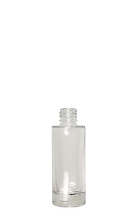 Tall Round Glass Bottle: 18mm - 1oz
