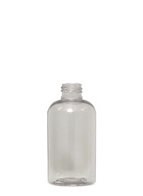 Boston Round Squat PET Bottle: 24mm - 6oz