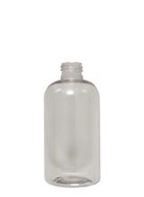 Boston Round Squat PET Bottle: 24mm - 8oz