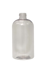 Boston Round Squat PET Bottle: 24mm - 12oz