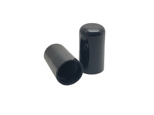 Smooth Black Cap (2500 pcs/box) - For 18mm Jars (415 Thread)