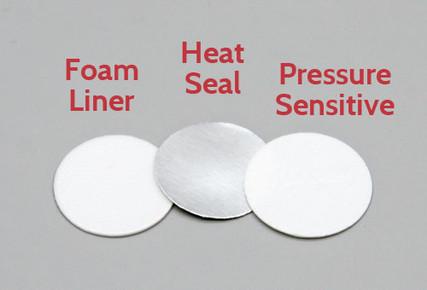 20mm Foam Liner, Heat Seal Liner and Pressure Sensitive Liner
