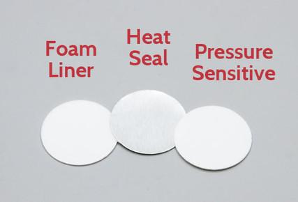24mm Foam Liner, Heat Seal Liner and Pressure Sensitive Liner