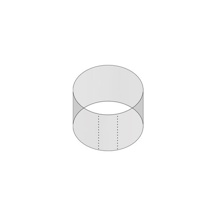 """1/2 43mm Shrink Sleeve (Thick Wall) - 1.34"""" H x 1.86"""" D - 5mm Perf"""