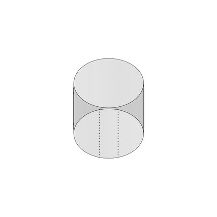 """1oz 43mm Shrink Sleeve (Thick Wall) - 1.89"""" H x 1.86"""" D - 5mm Perf"""