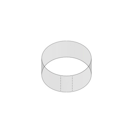 "48mm Shrink Sleeve (Regular Wall) - 0.98"" H x 2.13"" D - 5mm Perf"