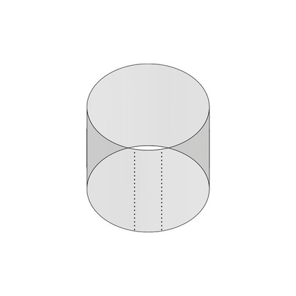 """2oz 53mm Shrink Sleeve (Thick Wall) - 2.13"""" H x 2.26"""" D - 5mm Perf"""