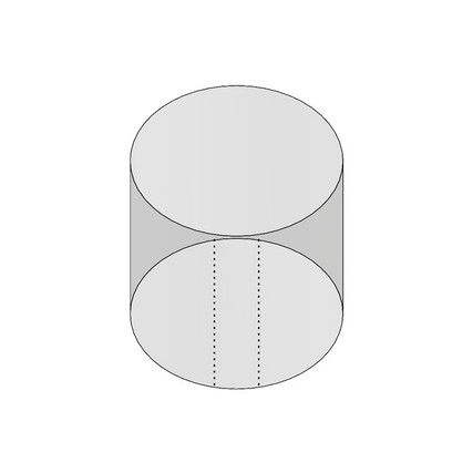 """3oz 58mm Shrink Sleeve (Thick Wall) - 2.44"""" H x 2.41"""" D - 5mm Perf"""