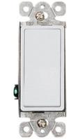 Decorative Single Pole Switch 15A White