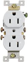 Standard Duplex Receptacle 15Amp White