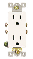 Decorative Duplex Receptacle 15Amp White