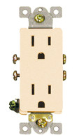 Decorative Duplex Receptacle 15Amp Almond