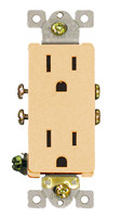 Decorative Duplex Receptacle 15Amp Ivory