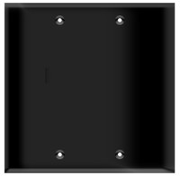 Blank Wall Plate 2-Gang Black