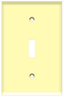 Toggle Switch Wall Plate 1-Gang Ivory