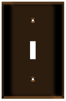 Toggle Switch Wall Plate 1-Gang Brown
