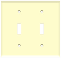 Toggle Switch Wall Plate 2-Gang Almond