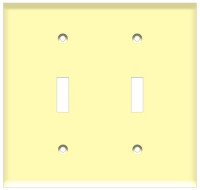 Toggle Switch Wall Plate 2-Gang Ivory