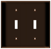 Toggle Switch Wall Plate 2-Gang Brown